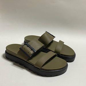SOREL Roaming Slides Sandals In Sage Green